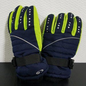 New Carter/'s Navy Blue Colorblock Winter Ski Mittens Size 4-8 NWT Reflective